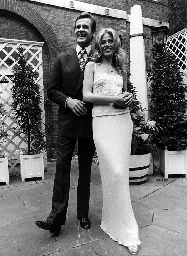 Roger Moore och Britt Ekland