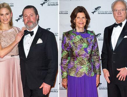 Vicky Andrén Magnuson, Gustaf Magnuson, drottning Silvia och kungen