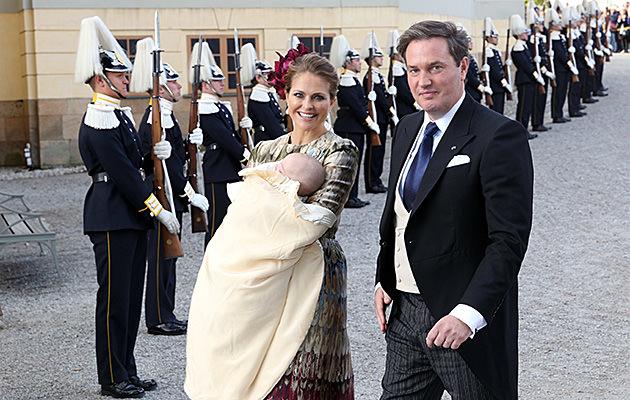 Prinsessan Madeleine, Chris O'Neill, Drottningholms, Kyrka, Dop