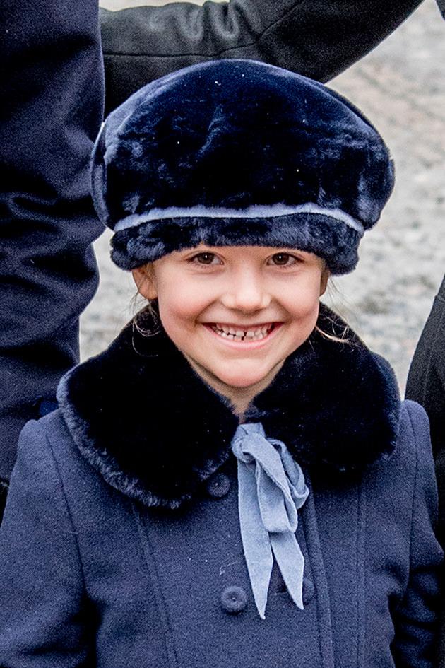 Kronprinsessan Victoria, prins Daniel, prinsessan Estelle, Namnsdag, Slottet