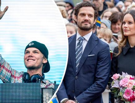 Avicii, Tim Berling, prins Carl PHiip och prinsessan Sofia