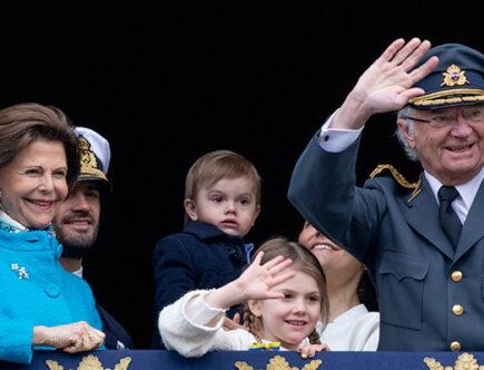 Kungens födelsedag, slottet, kungen, drottning Silvia, kronprinsessan Victoria, prins Danie, prins Carl Philip, prinsessan Sofia, prinsessan Estelle, prins Oscar