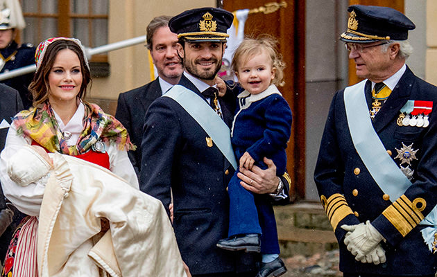 Prins Gabriel, prins Alexander, prins Carl Philip, prinsessan Sofia, kungen