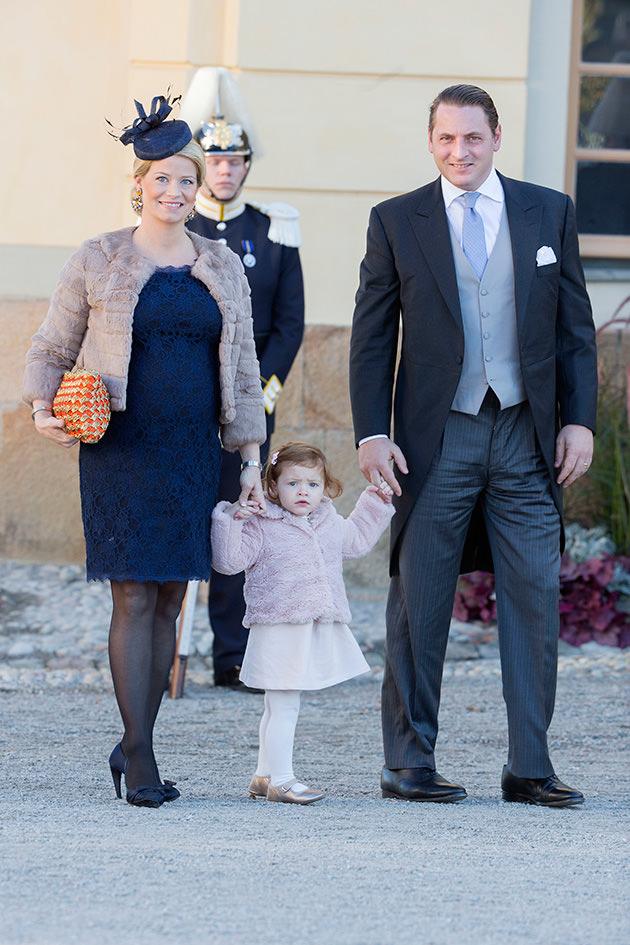 Natalie Werner med maken Dag och dottern.