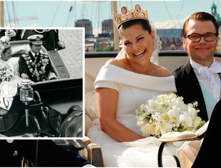 Kungen, silvia, kronprinsessan Victoria och prins Daniel, bröllopsdag, kungligt bröllop