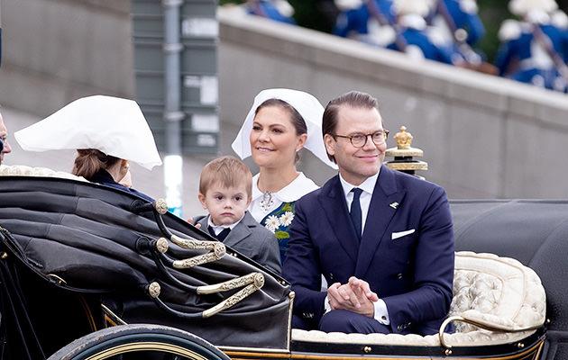 Nationaldagsfirande med kungafamiljen