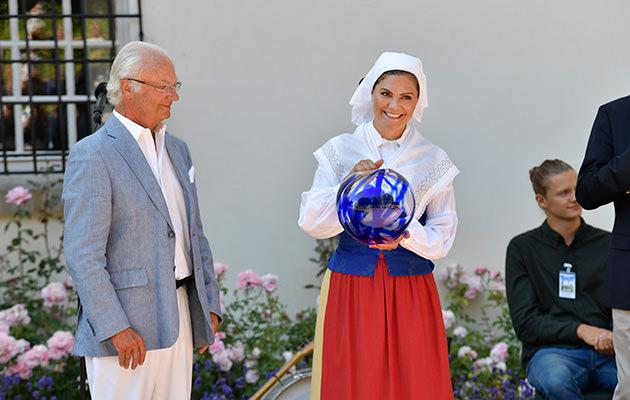 Kungen och kronprinsessan Victoria, årets ölänning, Solliden, Öland