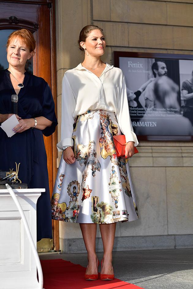 Kronprinsessan Victoria inviger Bermanfestivalen på Dramaten i Stockholm