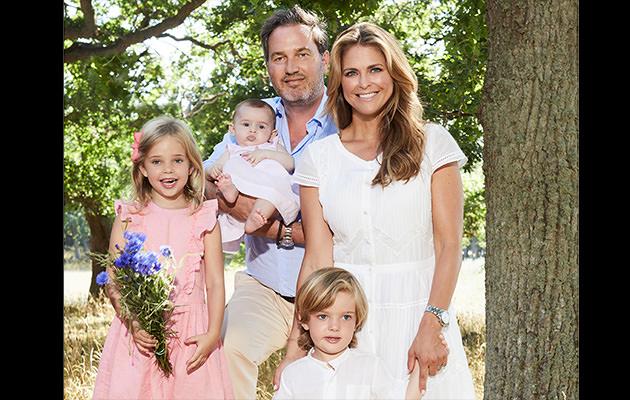 Prinsessan Madeleine, Chris O'Neill, Prinsessan Leonore, prins Nicolas, prinsessan Adrienne