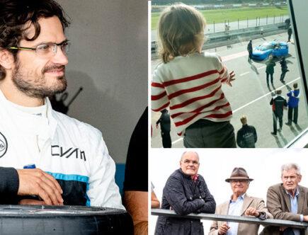 Prins Carl Philip, prins Alexander, kungen, racing, Mantorp