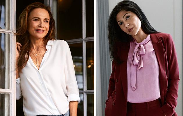 Lena Olin och Bahar Paris nya modeller för KappAhl