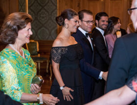 Drottning Silvia, kronprinsessan Victoira, prins Daniel, prins Carl Philip och prinsessan Sofia