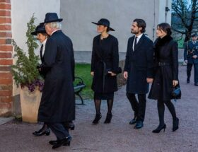 Kungafamilijen på Oscar Bernadotte begravning