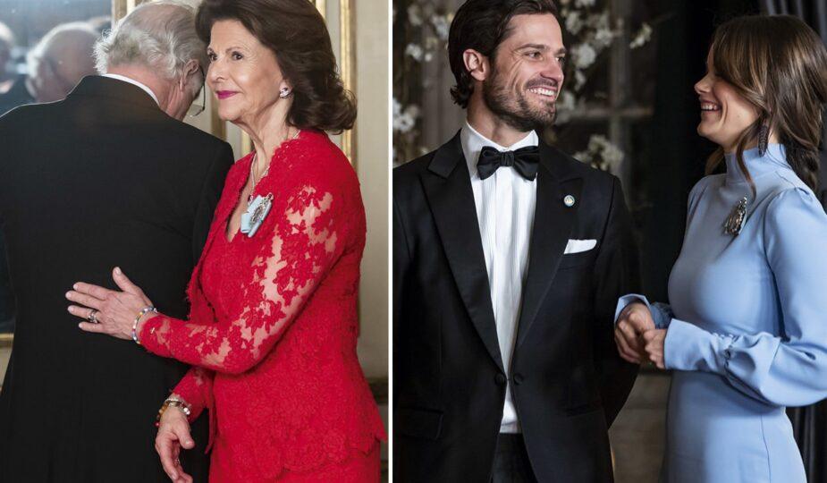 Riksdassupé på slottet, kungen, drottning Silvia, kronprinsessan Victoria, prins Daniel, prins Carl Philip, prinsessan Sofia, kronprinsessan Victoria