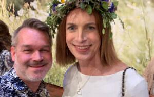 GALAs Pär Jonasson med Caroline Farberger.