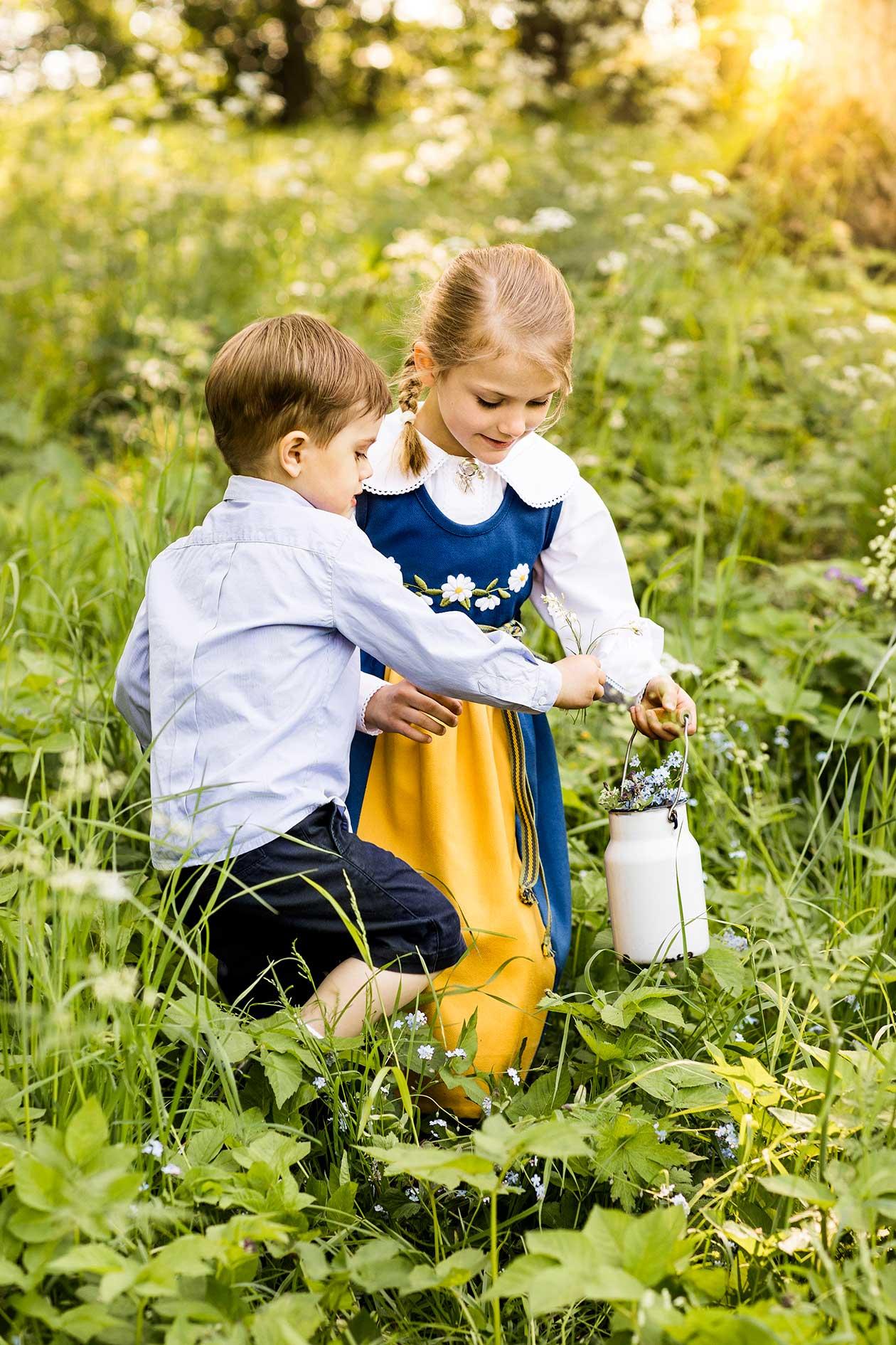 Prinsessan Estelle och prins Oscar, nationaldagen