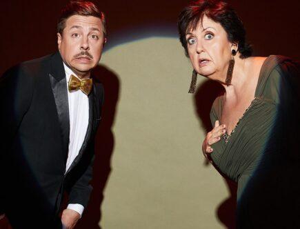 David Sundin och Babben Larsson programleder Kristallen 2019 tillsammans.
