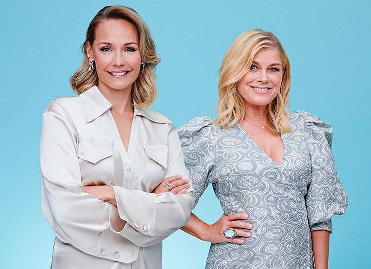 Carina Berg och Pernilla Wahlgren
